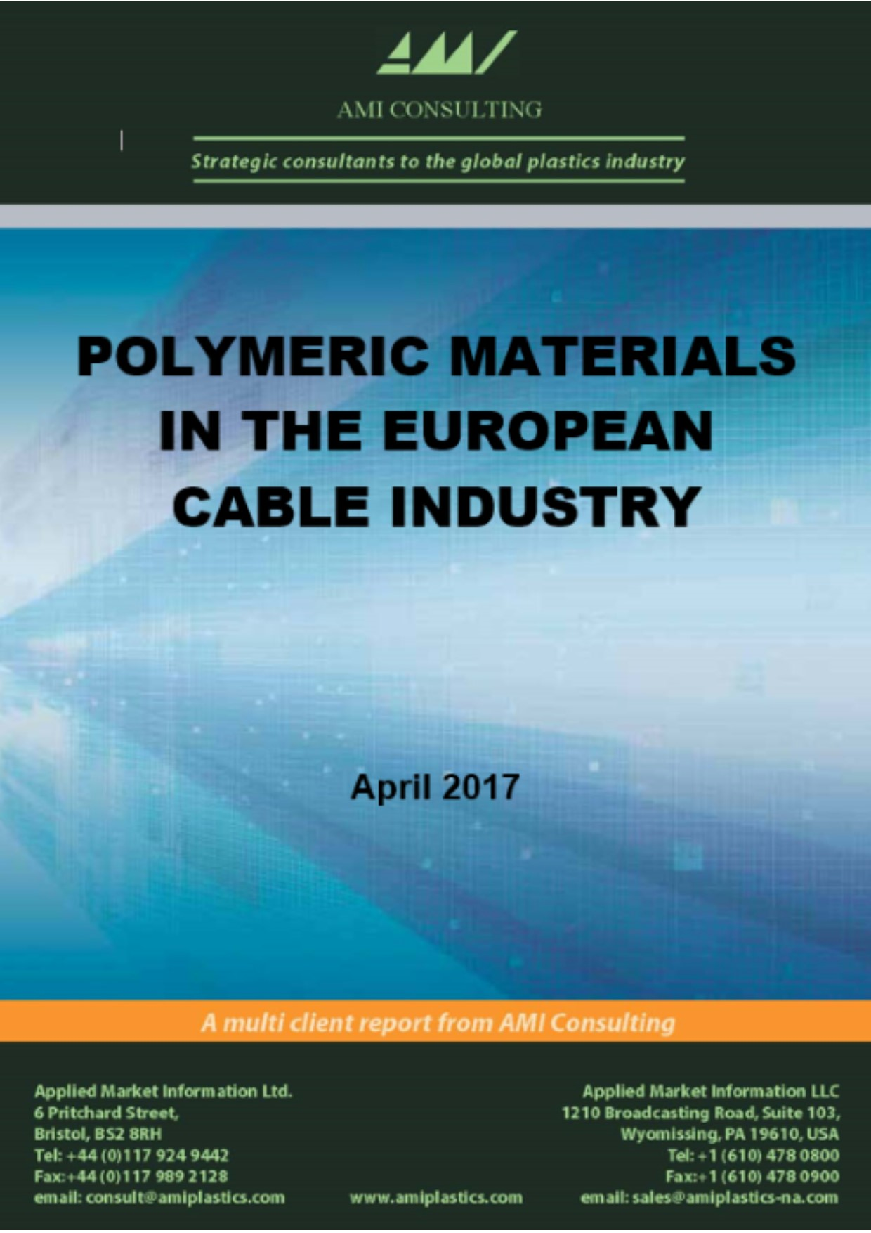 Polymeric materials in the European cable industry 2017