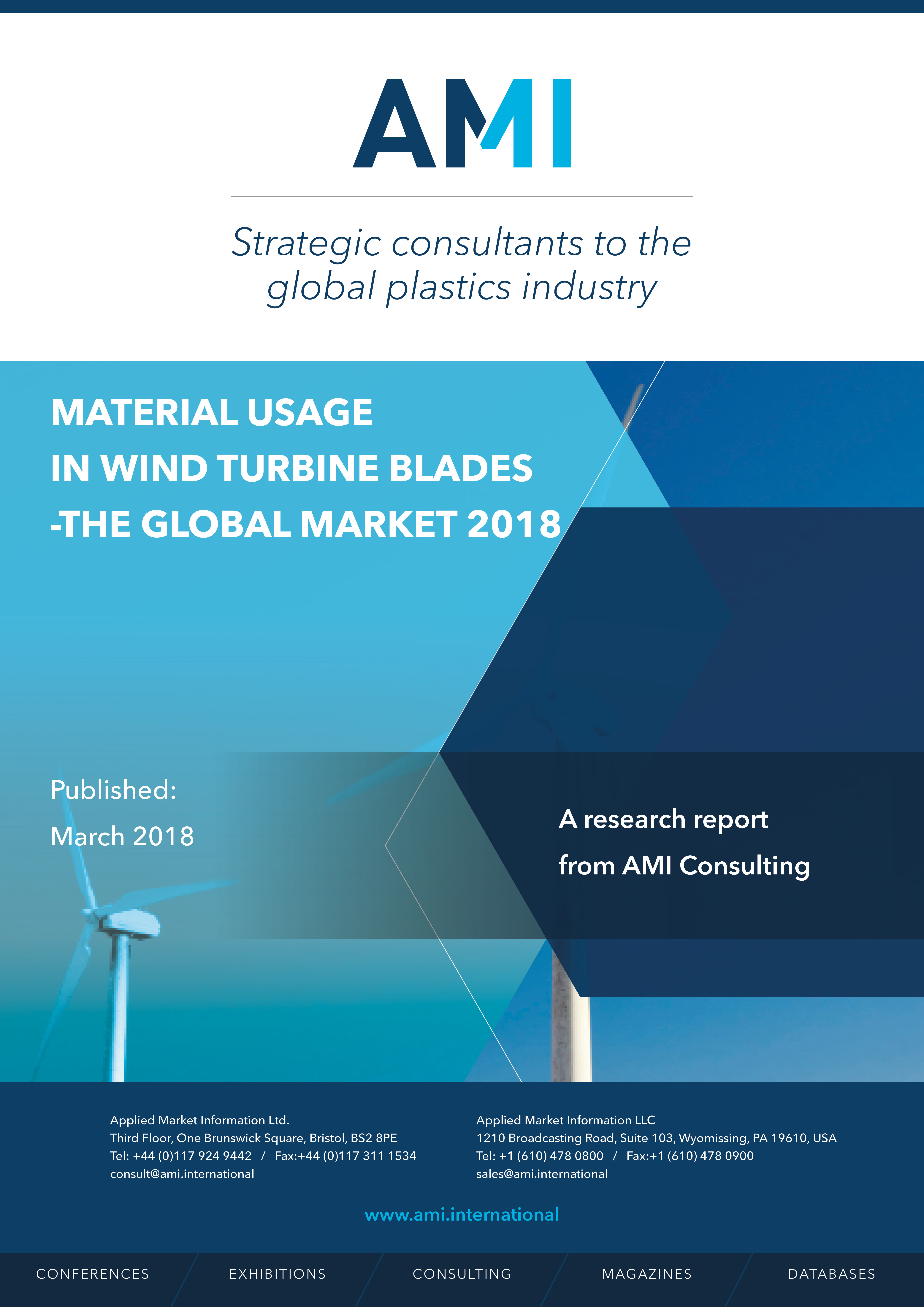 Materials usage in wind turbine blades - the global market