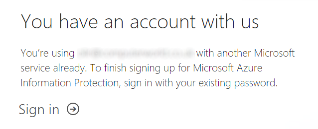 Azure AD Help - Already Using